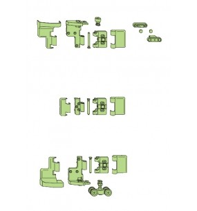 SI Siegenia FS-Portal Bi-Fold Door Hinge (Carton C)