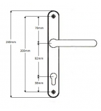 Roto Replacement Sprung uPVC Door Handle (92pz)