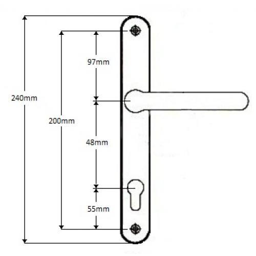 Everest Upvc Door Handle 48pz Replacement