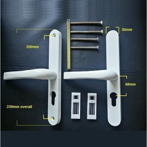 Pvc Door Parts : Everest upvc door handle pz replacement