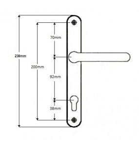 Roto Replacement Sprung uPVC Door Handle (92pz)