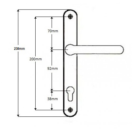 Roto Replacement Sprung Upvc Door Handle 92pz