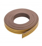 Self-Adhesive P-Profile Weather Strip 15m