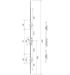 Mila Master 2 Hook, 2 Pin, and 4 Roller Door Lock