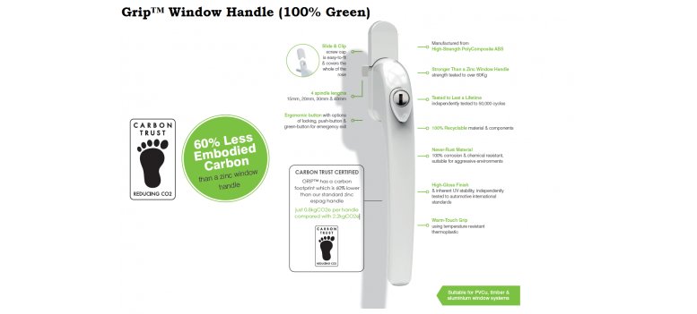 Grip™ Window Handle (100% Green)