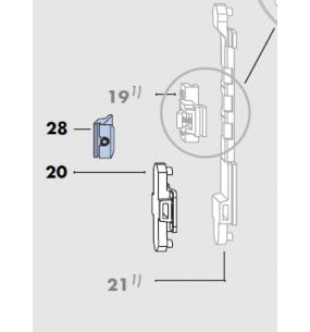 LM 4200 Siegenia Aluminium Window Centre Handle Lock Piece