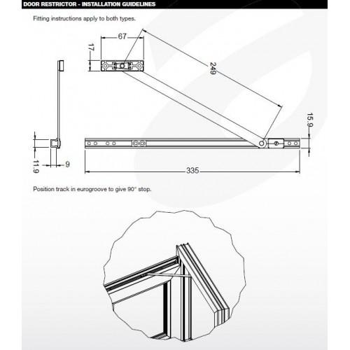 Upvc Door Restrictor Arm