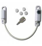 Lockable Cable Window Restrictor Lock (150mm) (White)