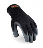 Scruffs Utility Latex-Coated Gloves Black