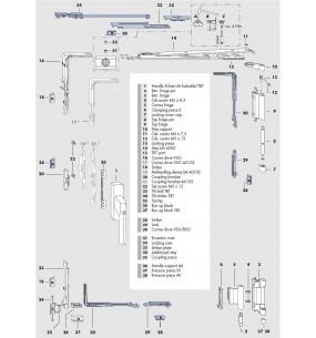 SI Siegenia Aluminium Window Tilt and Turn Gearing System