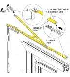 SI Siegenia Tilt and Turn Drive Gear Scissor Stay/Top Tilt Arm (Part No. SS/5)