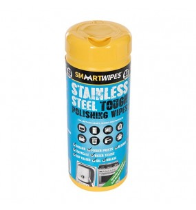 Smaart Stainless Steel Tough Polishing Wipes (Pack of 40)